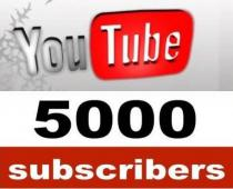 5.000 Youtube Subscribers
