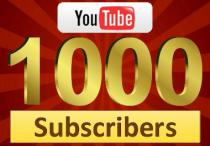 1.000 Youtube Subscribers